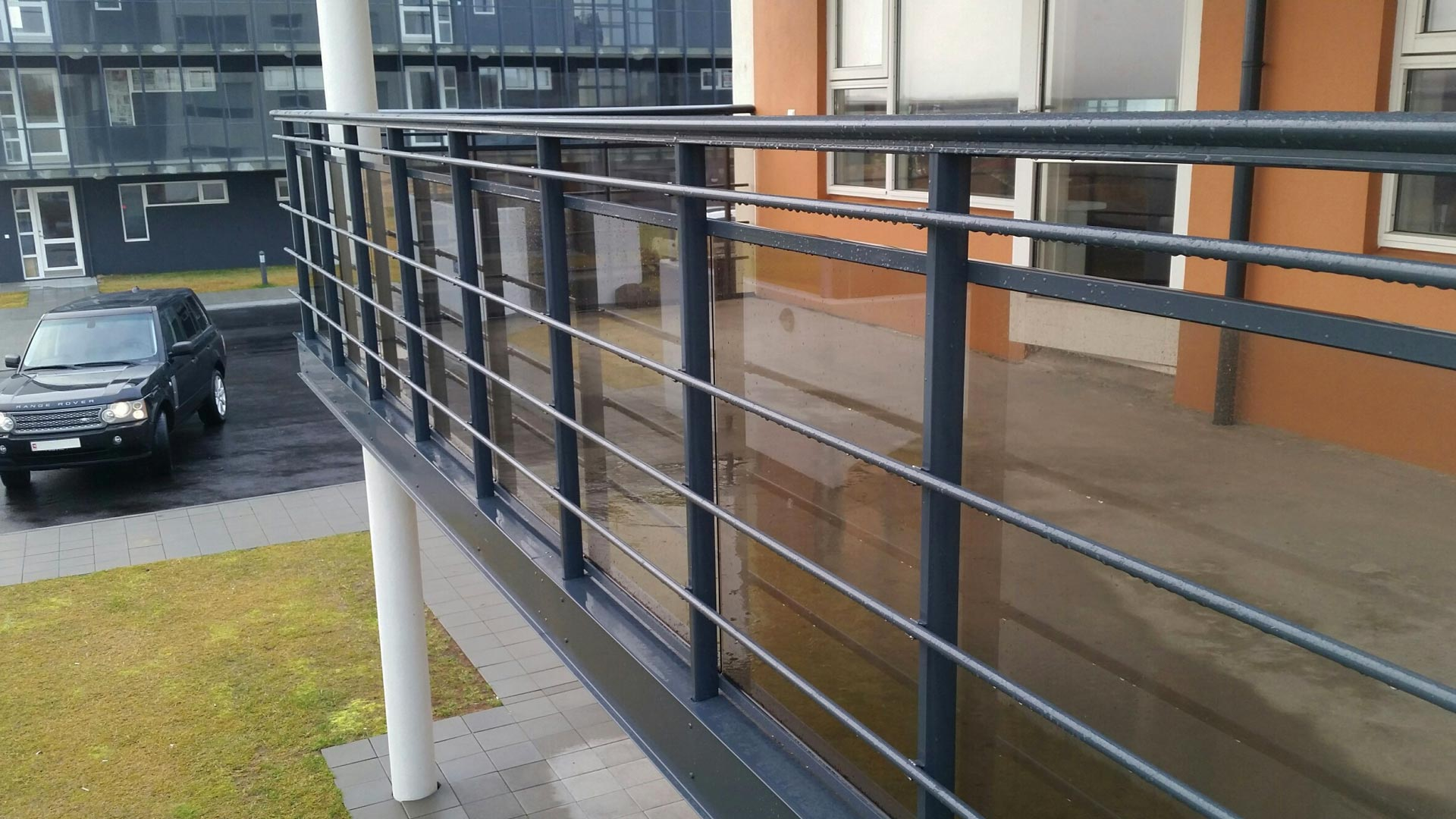 RIPO aluminium railing project in Iceland