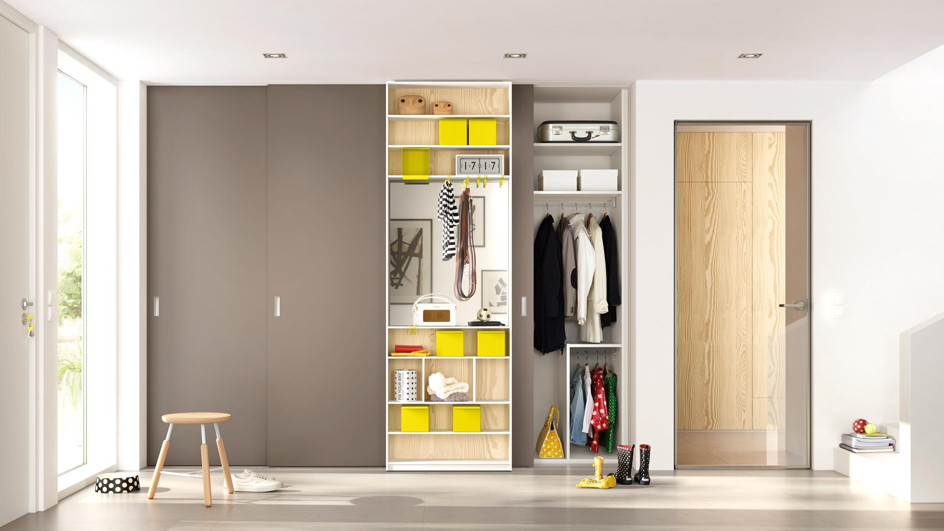 Sliding doors – excellent functionality and efficiently used space