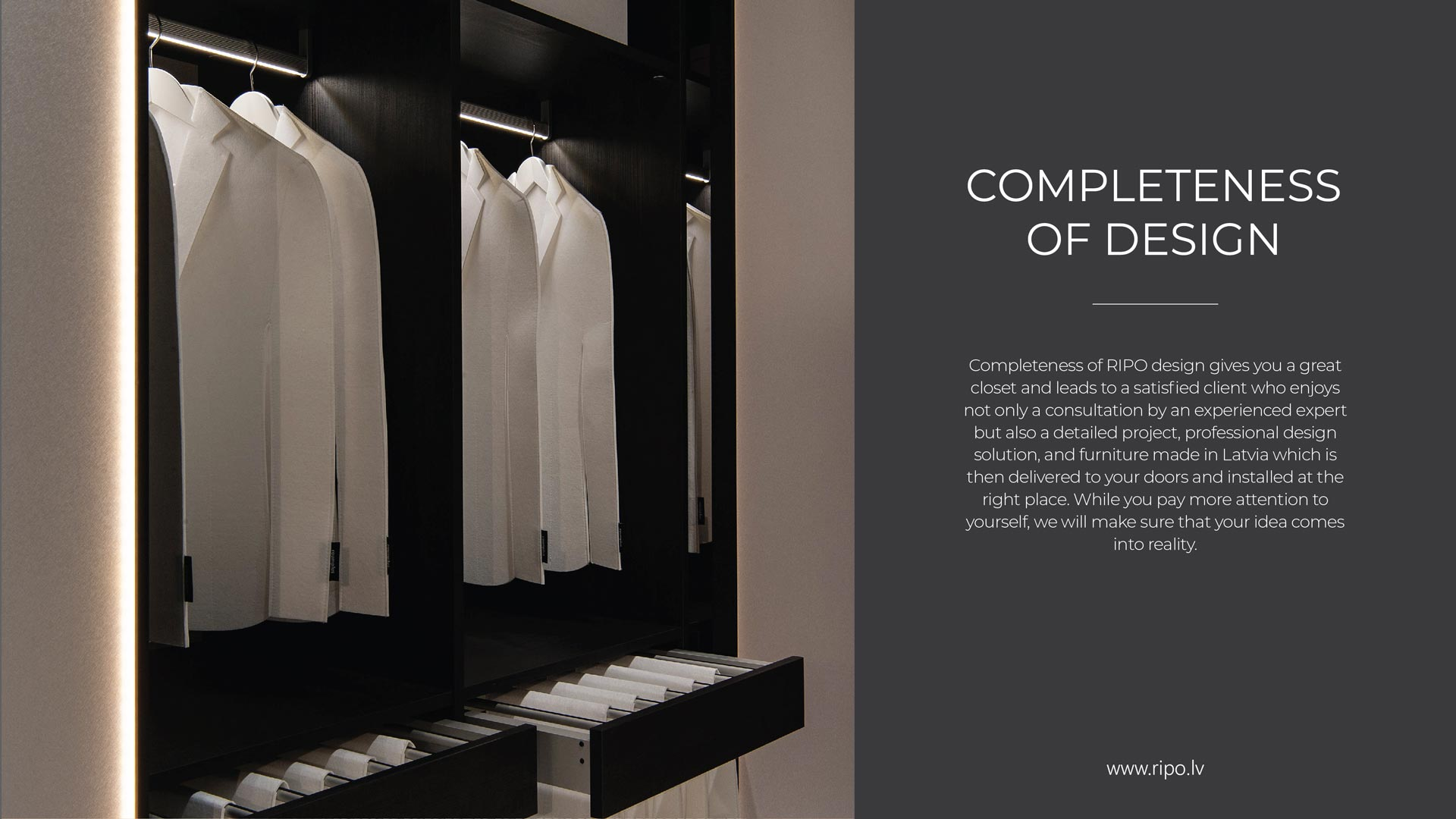 Lifestyle closets by RIPO