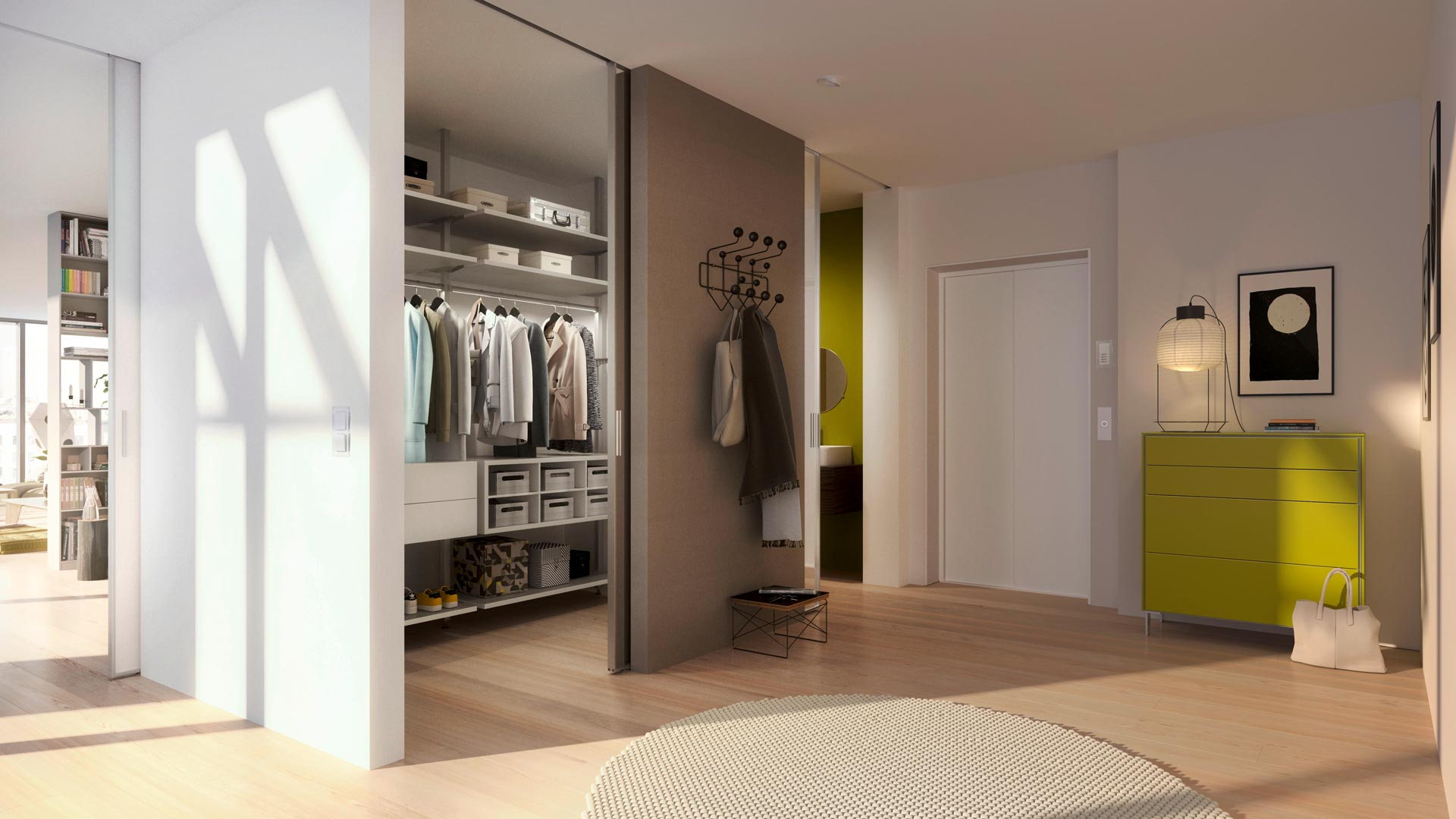 Smart interior choice – a built-in closet with sliding doors
